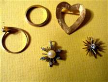 Misc Lot of Gold Jewelry