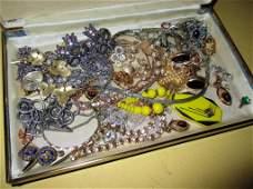Box Lot of Ladys Costume Jewelry