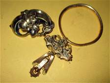 Three Pieces of Victorian Gold Filled Jewelry
