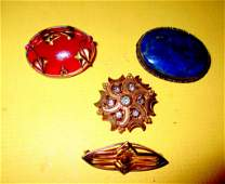 Lot of Four Vintage Pins