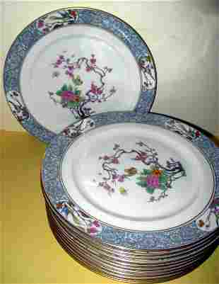 Set of Twelve Lenox Dinner Plates Ming Pattern