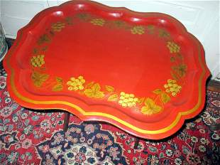 Hand Painted Papier Mache Tray