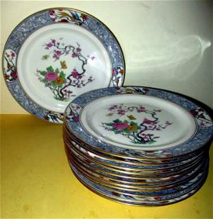 Set of Twelve Lenox Lunch Plates In Ming Pattern
