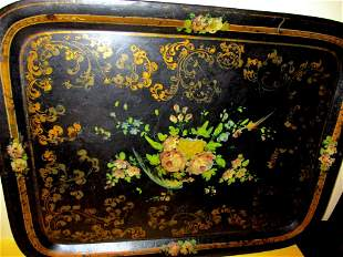 19th Century Hand Painted Tole Tray