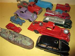Lot of Vintage Toy Metal Autos Including Hubley