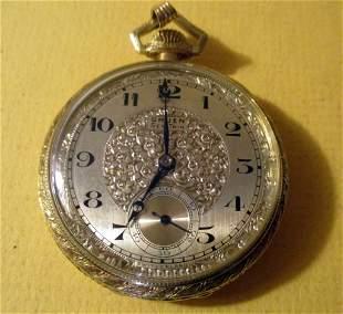 Men's Gruen Gold Filled Pocket Watch