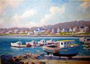 Oil Painting of Rockport MA