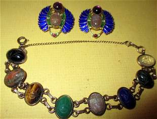 Lot of Egyptian Motif Jewelry