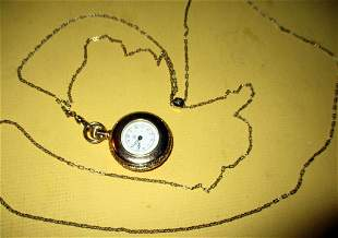 Lady's Victorian Slide Chain Watch