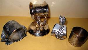 Four Victorian Napkin RIngs