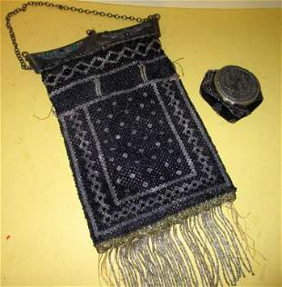 Two 19th C. Beaded Bags