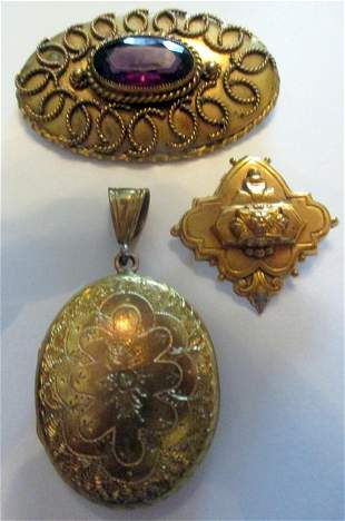 Lot of Victorian G.F. Jewelry