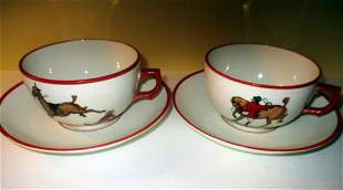 Two Large England Coffee Cups