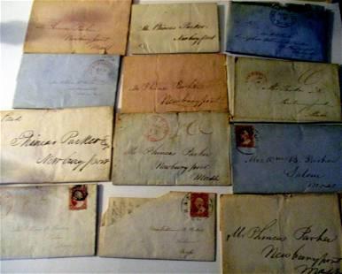 Twelve Letters Correspondence from Capt. WB Parker