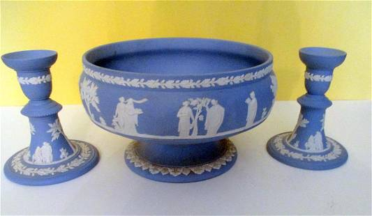 Three Pieces of Wedgwood Porcelain