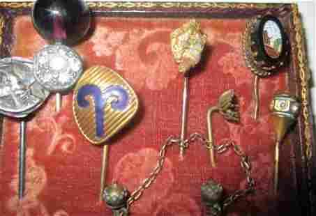 Lot of Eight Vintage Tie Pins