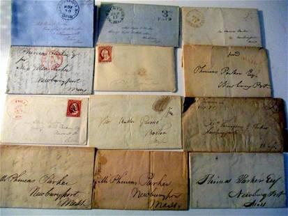 Lot of 12 Letters Correspondence from Early 19th C