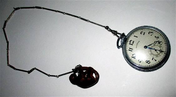 Silver Plate Illinois Men's Pocket Watch
