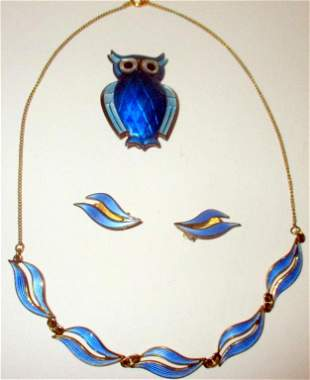 Lot of Sterling Silver and Enamel Jewelry