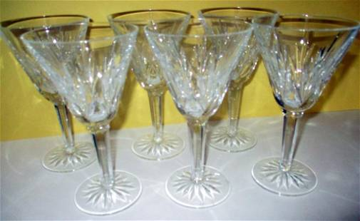 Set of Six Waterford Goblets