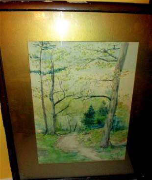 Watercolor Painting of a Landscape AB Coolidge
