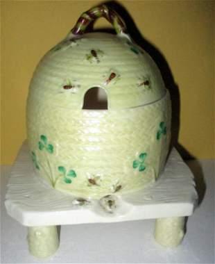 Belleek Honey Pot
