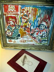 Painting & Autographed Book by Theresa Bernstein