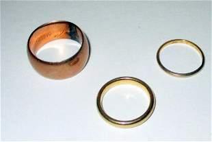 Three Gold Wedding Bands