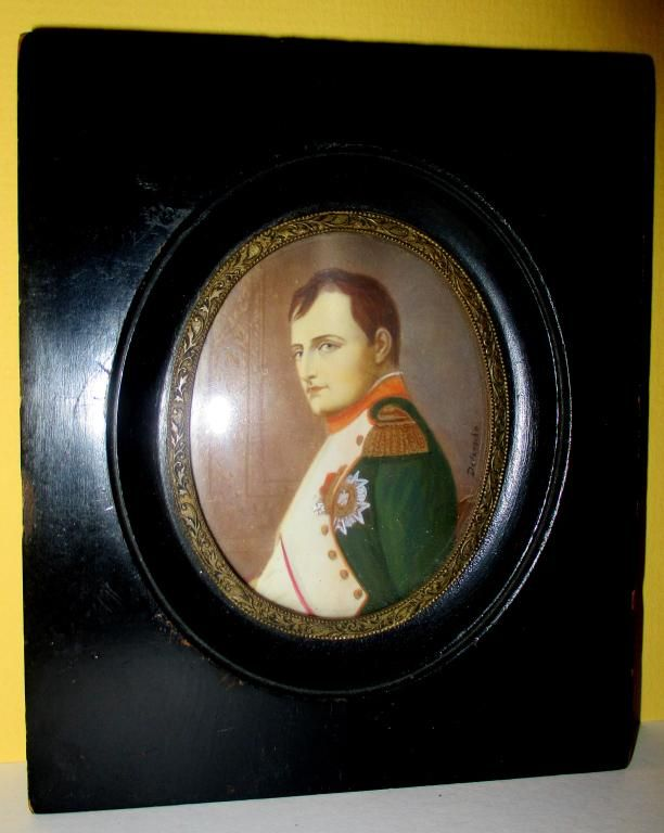 Miniature Painting of Napoleon by Delaroche