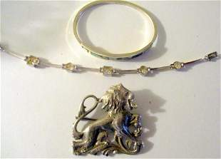 Three Piece Lot of Sterling Jewelry
