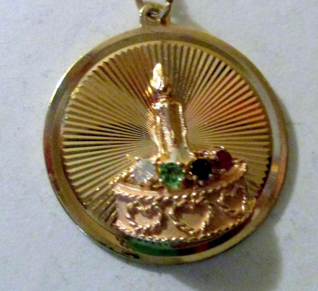 14K Gold Birthday Charm Pendant