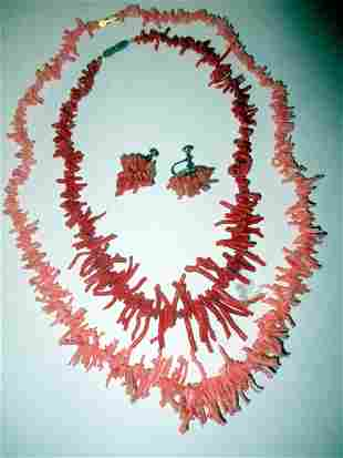 Lot of Vintage Coral Jewelry