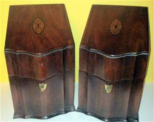 Two Replicas of 18th C. Silver Caddies