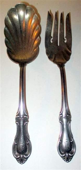 Sterling Serving Fork & Spoon