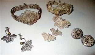 Lot of Silver Filigree Jewelry