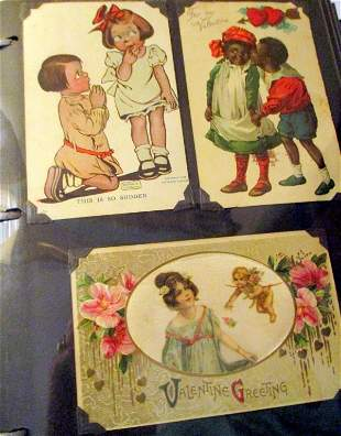Postcard Book of Circa 1900 Valentines
