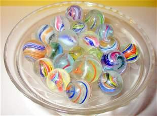 Lot of Venetian Swirl Marbles