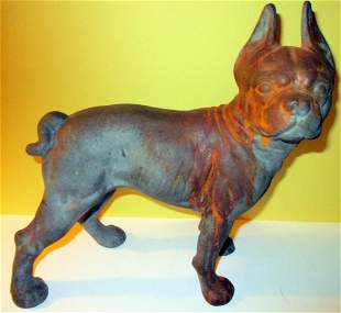 Boston Terrier Cast Iron Doorstop