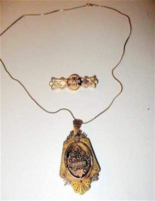 Two Pieces of Victorian Gold Filled Jewelry