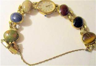 Pedre Lady's Scarab Watch Gold Filled