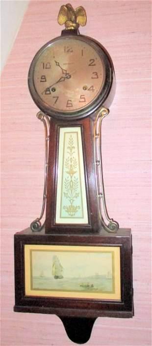 New Haven Vintage Banjo Clock