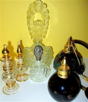 Lot of Vintage Perfume Bottles