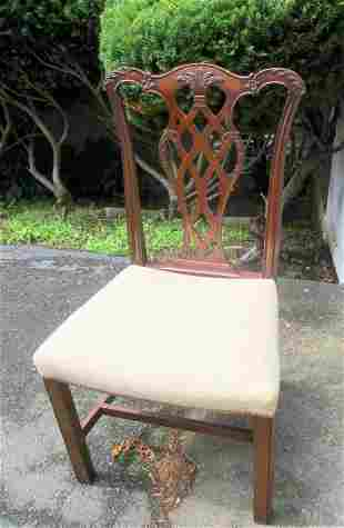 SIx Circa 1900 Chippendale Dining Chairs