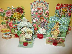 Lot of Victorian Valentine Cards