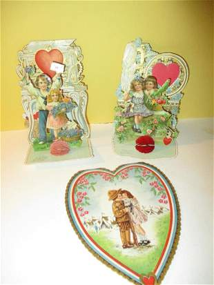 Lot of Victorian Valentines Card