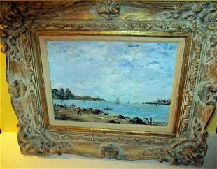 Oil on Canvas Marine Painting