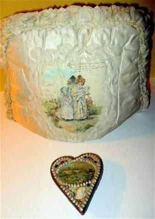 Box Lot of 19th C. Unusual Valentine Cards