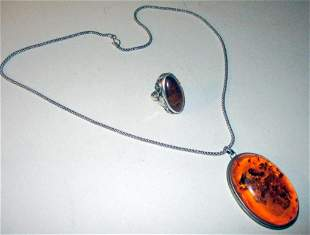 Baltic Amber and Silver Jewelry