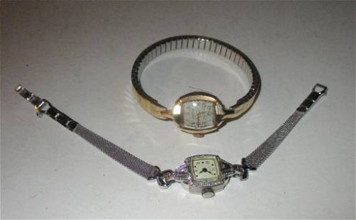 Two 14K Gold Lady's Cocktail Watches