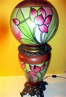 """Victorian """"Gone with the Wind"""" Lamp"""